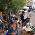 Sidmouth workshop members painting