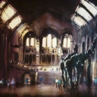 Inside the Natural History Museum, London (120 x100cm)