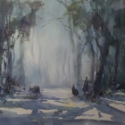 Roos-in-the-Early-Morning-Mist-WC-60-x35cm