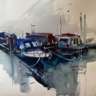 Canal barges Stratford-upon-Avon (study)