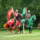 Jousters at Warwick Castle