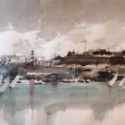 Plymouth Hoe and Barbican from Mount Batten (SOLD)
